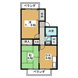 フォレスタ西賀茂[1階]の間取り