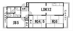 コーリンマンション[1階]の間取り