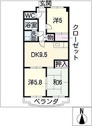 ヴィクトワール弐番館[4階]の間取り