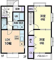 アーバンステージ IV[2階]の間取り