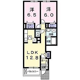 サンシャインヴィレッジ桜井B[B105号室]の間取り