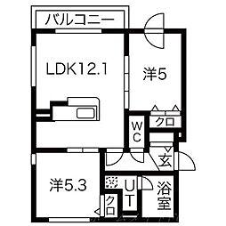レーベルシャトーS11[3階]の間取り