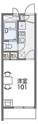 レオパレス武庫川東[3階]の間取り