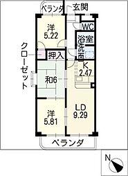 シェリール12[2階]の間取り