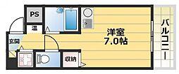 グランメール高井田[2階]の間取り
