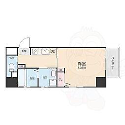 名鉄名古屋本線 山王駅 徒歩8分の賃貸マンション 3階1Kの間取り