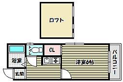 ソファレ錦町[1階]の間取り