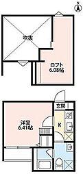 フォレスト川田 新築 川田3 吉田駅14分[2階]の間取り