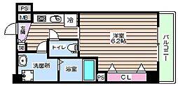大阪府大阪市福島区鷺洲5丁目の賃貸マンションの間取り