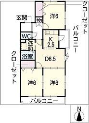 ロックハウス[2階]の間取り