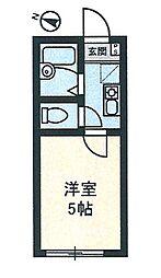 イル川崎大師[202号室]の間取り