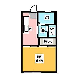恵ハイツ[1階]の間取り