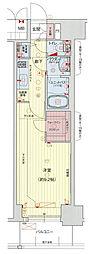 Osaka Metro中央線 阿波座駅 徒歩6分の賃貸マンション 11階1Kの間取り