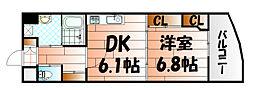 ヒット小倉[11階]の間取り