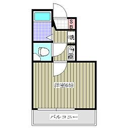 シャルマンフジ  熊谷 壱 (初期費用5万円物件)[209号室]の間取り