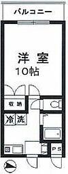 千葉県松戸市古ケ崎2丁目の賃貸マンションの間取り