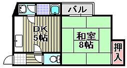 古木マンション[1F号室]の間取り