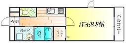 大阪府羽曳野市恵我之荘5丁目の賃貸アパートの間取り