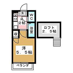 宮城県仙台市泉区八乙女1丁目の賃貸アパートの間取り