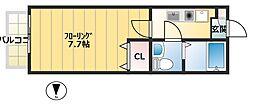 レジデンス司[1階]の間取り