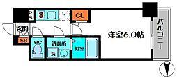 エスリード新福島[7階]の間取り