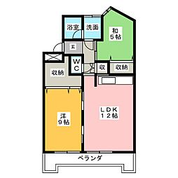 ラ・フィーネヤトミ[4階]の間取り