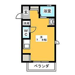カーサ草薙[1階]の間取り
