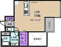 リバープレイス梅田北[3階]の間取り