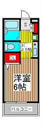 プロムナード中浦和[1階]の間取り