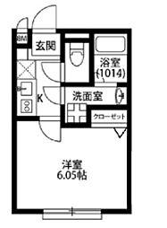 東京都江東区亀戸3丁目の賃貸アパートの間取り