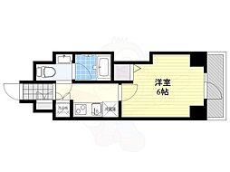 プレミアムキューブG渋谷神南 5階1Kの間取り