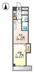 Arsa 上飯田[3階]の間取り