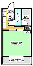 タウニー水町[203号室]の間取り
