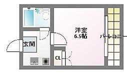 兵庫県神戸市須磨区車字霜ノ下の賃貸アパートの間取り