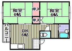 古川マンション[201号室]の間取り