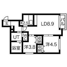 ピクシーガーデン資生館[4階]の間取り