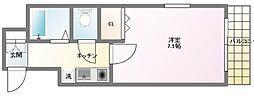 ヴェルディ神戸[3階]の間取り