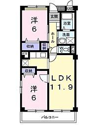 ア・ラ・モード2002[3階]の間取り