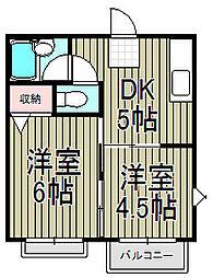 メゾン小菅ケ谷[201号室]の間取り