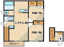 (仮称)町田市・下小山田町メゾン 2階2LDKの間取り