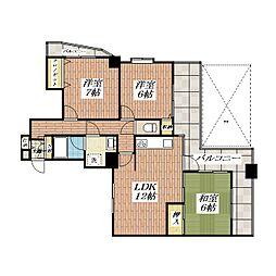 ミューズパーク[3階]の間取り