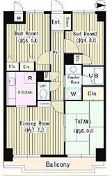東京都小金井市中町1丁目の賃貸マンションの間取り