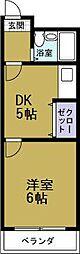 サンキューマンション[4階]の間取り