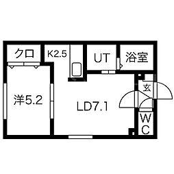 Luna Plaza KOTONI[1階]の間取り
