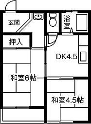 横井マンション[301号室]の間取り