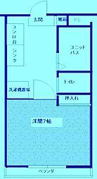 神奈川県川崎市高津区久本2丁目の賃貸マンションの間取り