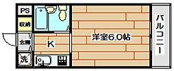 ジョイフル富田[4階]の間取り