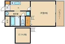 パブリックマンションII[3階]の間取り