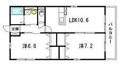 広島県広島市中区舟入南3丁目の賃貸アパートの間取り