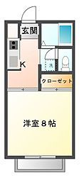 プラージュA[2階]の間取り